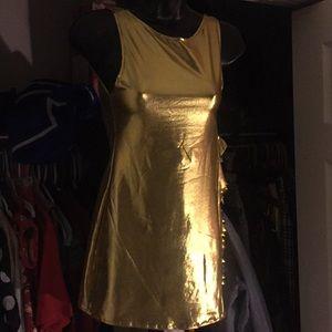 Melted Golden Dress